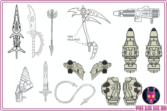 Various Gear and Weapons Concept