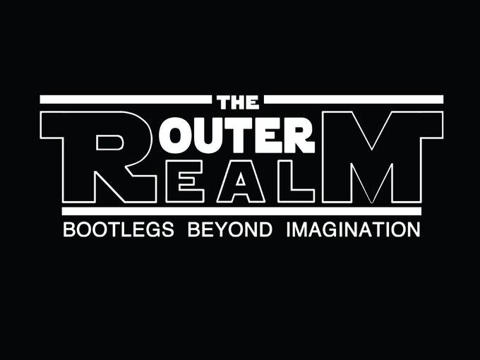 Outer Realm logo shirt and button design by Jarrod Clark