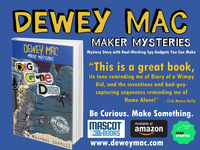 Action-packed story about a kid detective who uses science to build STEM spy gadgets & solve crimes. You can too!