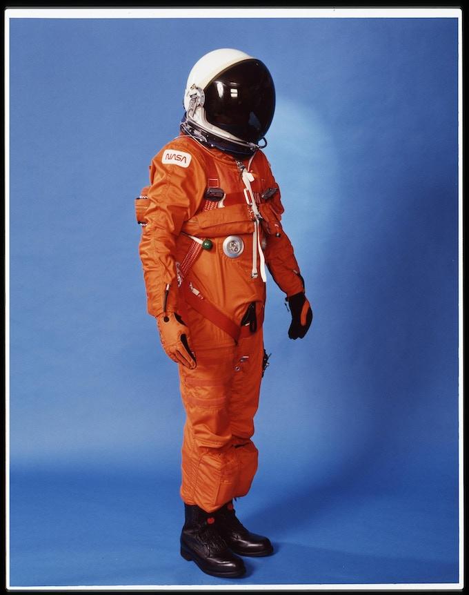 Space suit markings. Photo: NASA.