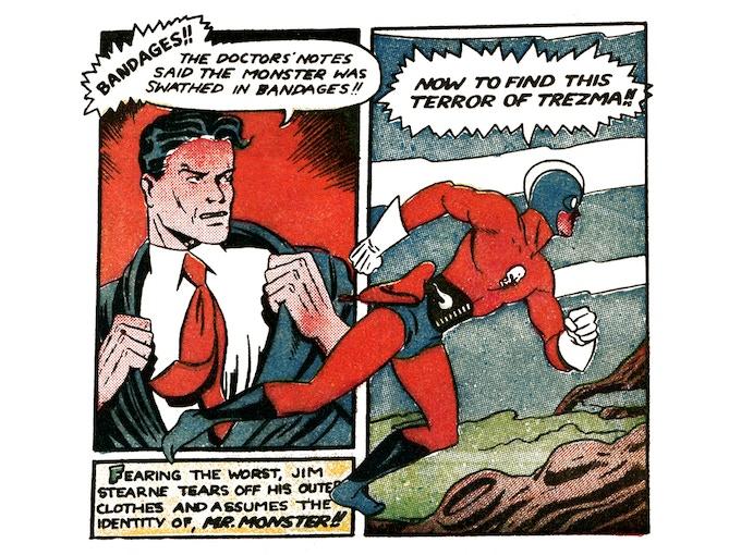 Original panel excerpts from Super Duper #3.