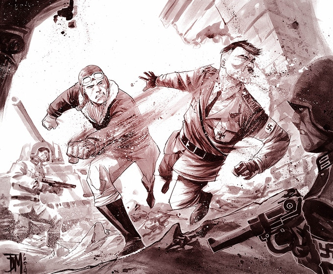 Francis Manapul's Johnny Canuck. Sample artwork only.