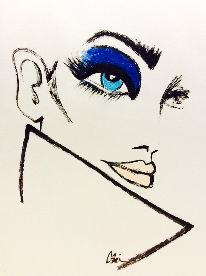 """Blue Eyes"" original artwork by Csteien"