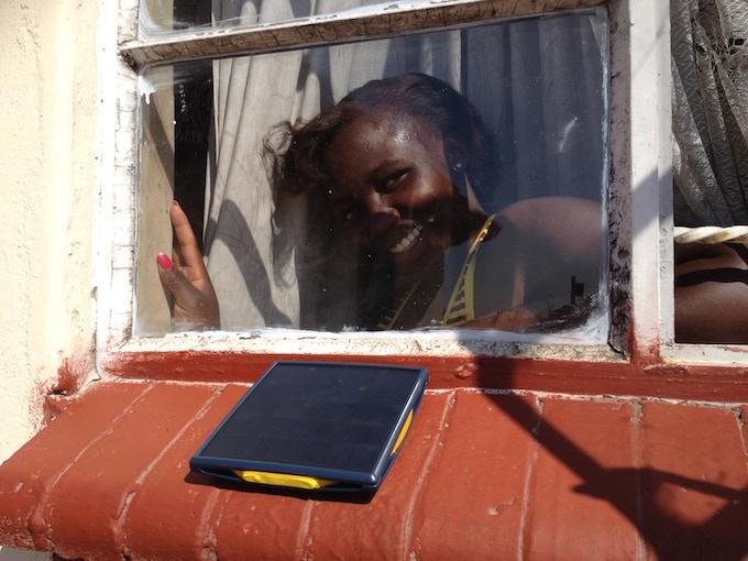 Little Sun Charge prototype testing in Zimbabwe, July 2015