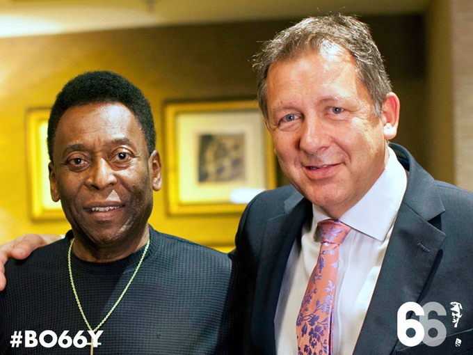 Meet Brazil legend Pele during the filming of his interview