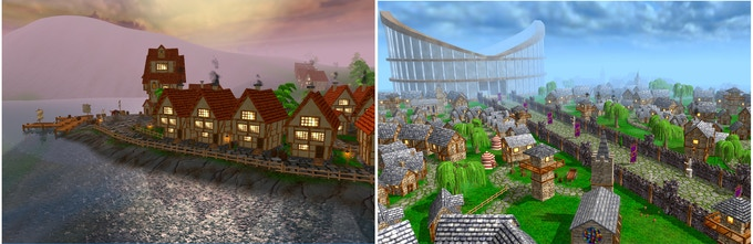 Vast majority of models and textures are made by the community.
