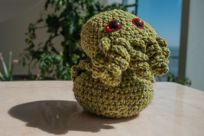 Crocheted Cthulhu by Sylvia Spruck Wrigley