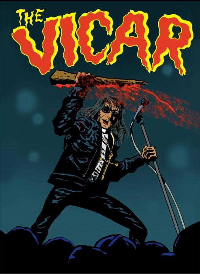 *Who is the Vicar? A priestly garage rockin' vampire hunter that has graced every issue of Nix Comics Quarterly to date!