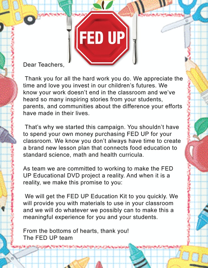 FED UP: Food Education For Every Classroom by The FED UP