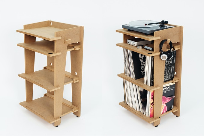 THE FINAL RESULT: A piece of quality furniture packed with design features for the turntable enthusiast.