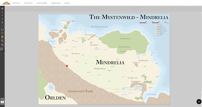 A map of Mindrelia.