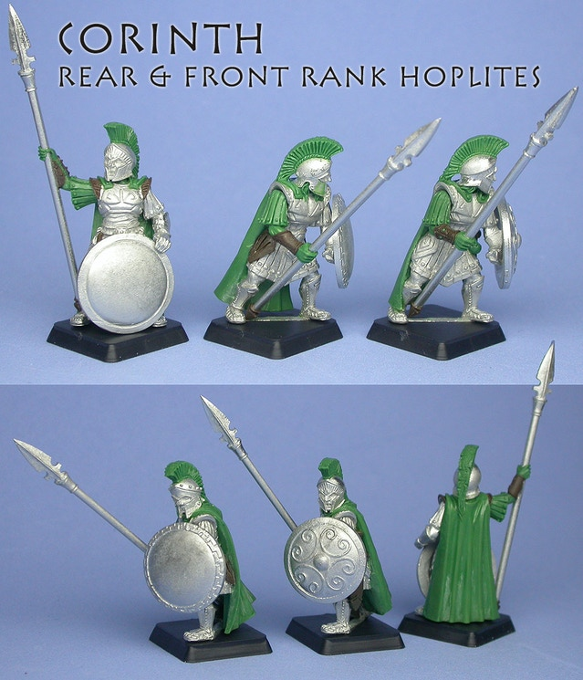 Corinth Hoplites, sculpted                by Todd Harris & Chris FitzPatrick