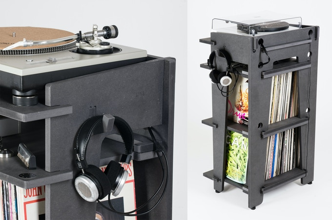 CABLE MANAGEMENT: Keep power + audio cables separate (less distortion) and neat. Plus a hook for headphones or extra cables.