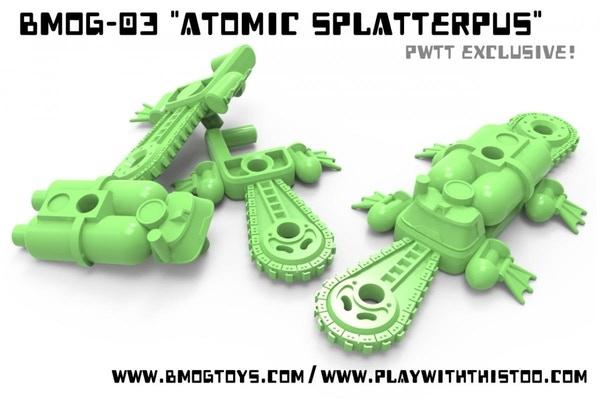 ATOMIC SPLATTERPUS Glows-in-the-dark!!!