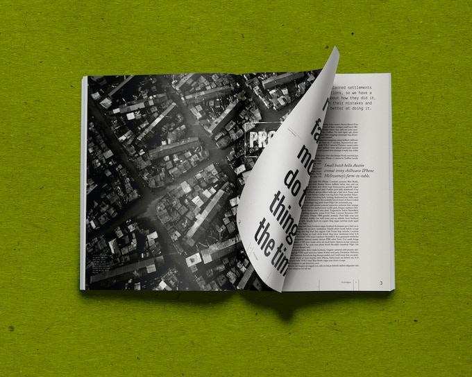 Draft layout of Make Massive Small Change book
