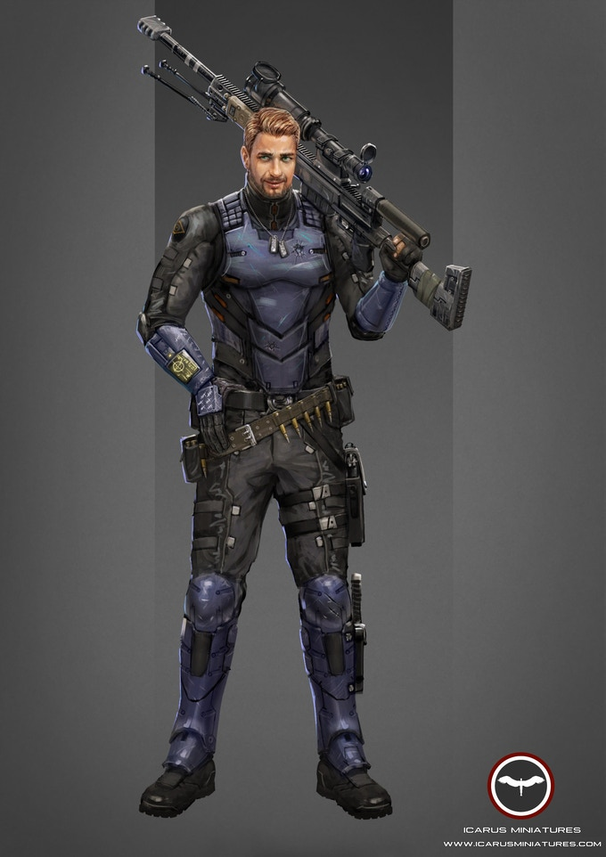 Spectre, a mercenary sniper.