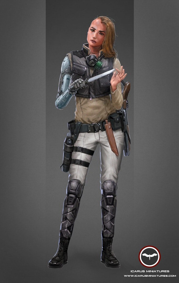 Kara Mariasha. An ex-Alliance soldier who was abandoned and is now seeking revenge.
