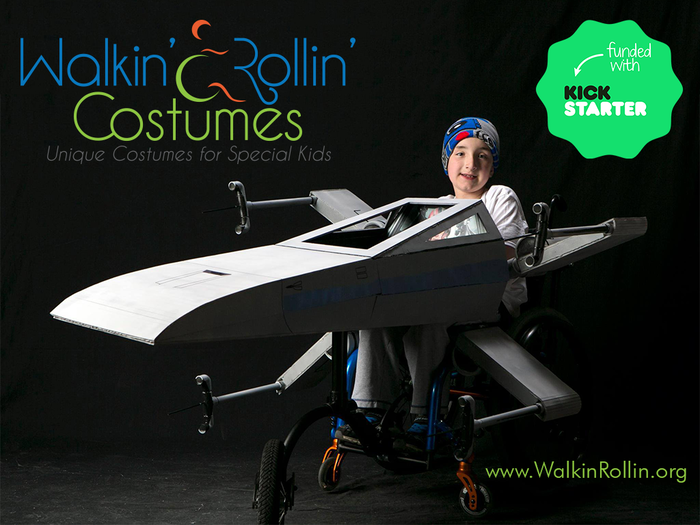 Create custom costumes for special needs children in walkers and wheelchairs. Goal: Build 5 costumes by Halloween. www.WalkinRollin.org
