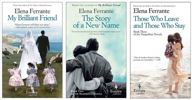 The Neapolitan novels of the enigmatic Italian writer Elena Ferrante – yours for £30.