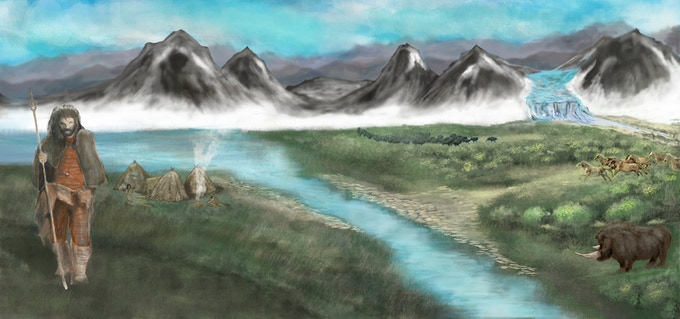 Concept art from Steppe scene.