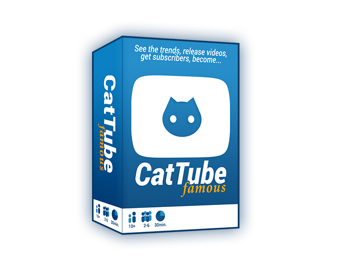 CatTube Famous is a card game where you release cat videos and become the next CatTube celebrity!
