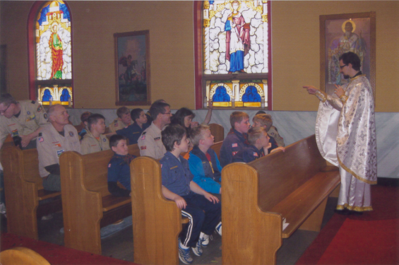 St. Elias hosted an open house for the Cub Scouts