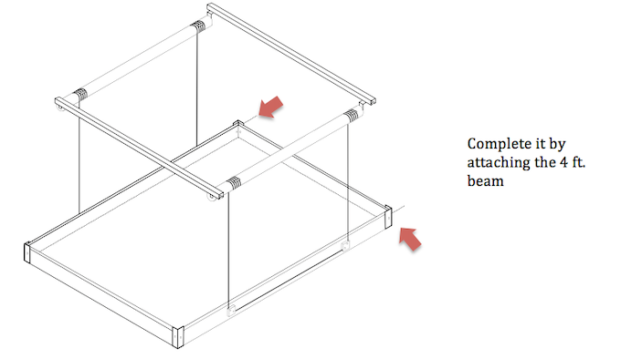 Easy Ikea style assembly manual. Very basic connecting of parts