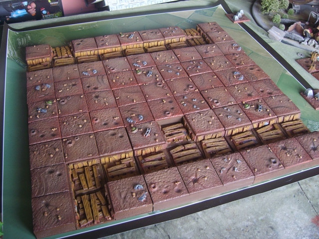 3 x 3 battlefield broken down into it's 9 boards known as 'tiles' in the rulebook!