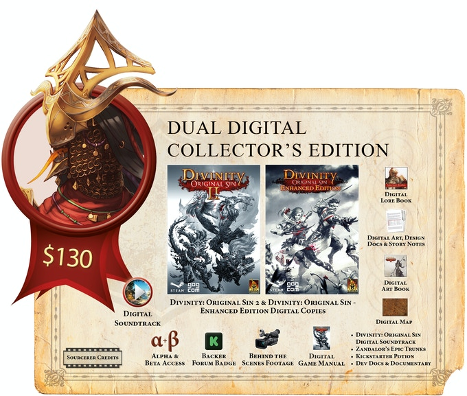 Divinity original sin 2 by larian studios llc kickstarter the game itself but you will need to go through either gog or steam to access your copy as delivery of the game will happen though gog or steam codes fandeluxe Choice Image