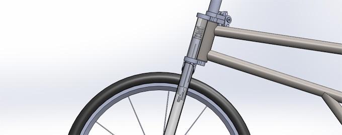 Tube-in-tube design secures the fork and steerer tube in 360 degrees