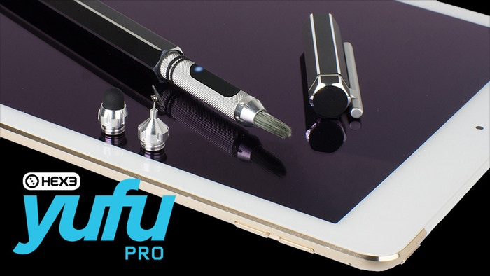 YuFu Pro is a Fine Point Stylus for iPad, Android and Windows Tablets. Precision engineered, PRESSURE SENSITIVE, Beautiful, Perfect.