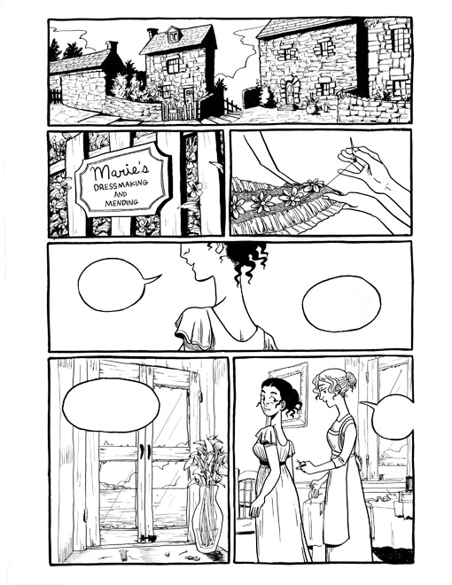 Art by Effie Lee. NOTE: Backers will receive one of 2 original pages--not necessarily the one displayed here.