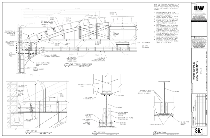Plans for the new trusses