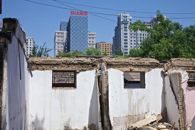 Demolished hutongs