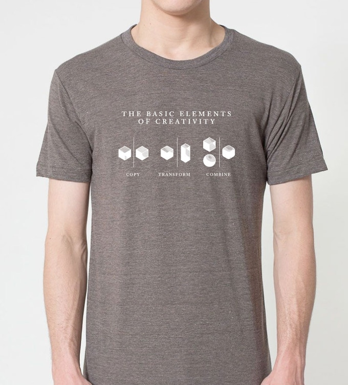 """The """"Copy Transform Combine"""" t-shirt (this is a composite, not the actual shirt)"""