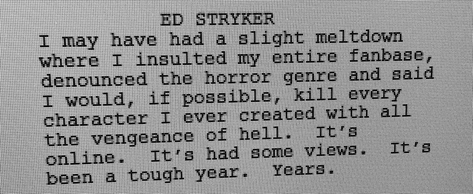 The poetry of Ed Stryker