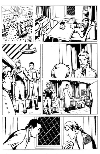 Art by Cat Parra. NOTE: Backers will receive one of 6 original pages--not necessarily the one displayed here.
