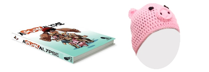 Kobuta's Special: Aporkalypse Hardcover and Knitted Pig hat
