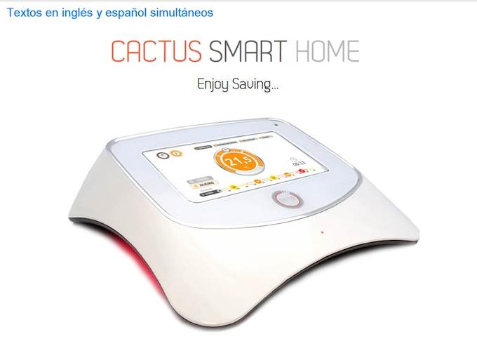 CACTUS SMART HOME, diviértete ahorrando.