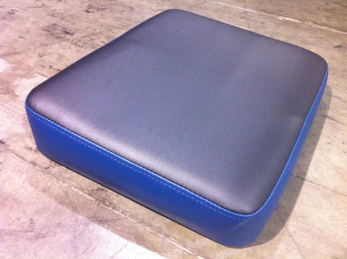 Our First Production Spec Memory Foam Seat Cushion Hand Crafted in the Silicon Valley!