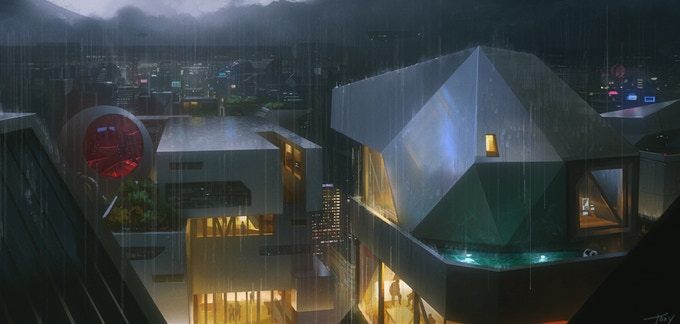 Concept art: Verona (CWP district), Greenland. Home of the GTD Headquarters, and of Julia Chun.