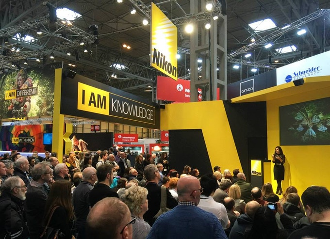 Kirsty speaking on the Nikon stage about 'Wonderland' during The Photography Show 2015