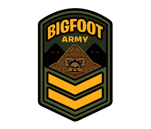 """Bigfoot Army"" patch design"