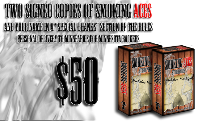 &50: Two(2) Signed Copies of Smoking Aces!