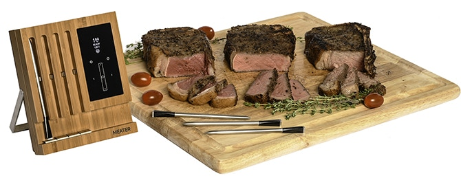Using Meater Block, cook different steaks at different internal temperatures at the same time.