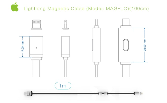MagCable. A magnetic cable that changes charging