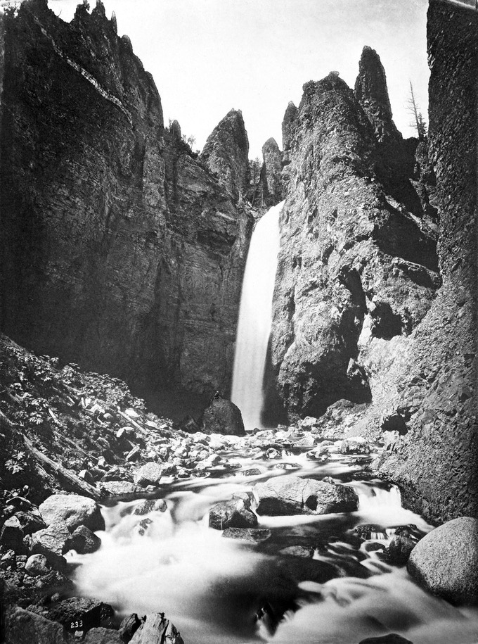 No. 233. TOWER FALLS, near view from near its base.