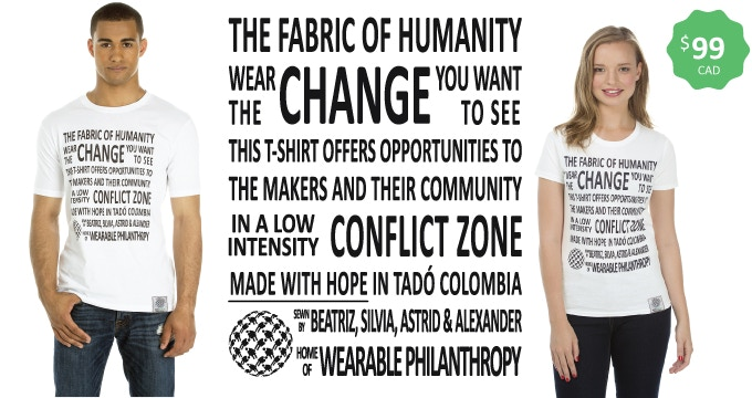 Made in Tadó, Colombia — First ever conflict zone philanthropic tee — Sizes xs-xxl