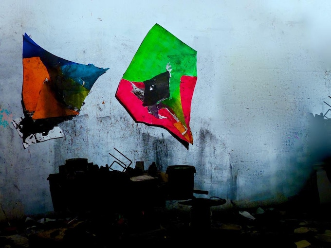 These acrylic and charcoal hand painted kites by Chicago based artist, Wesley Kimler, are one of the many incredible rewards we're so lucky to be able to offer to our backers