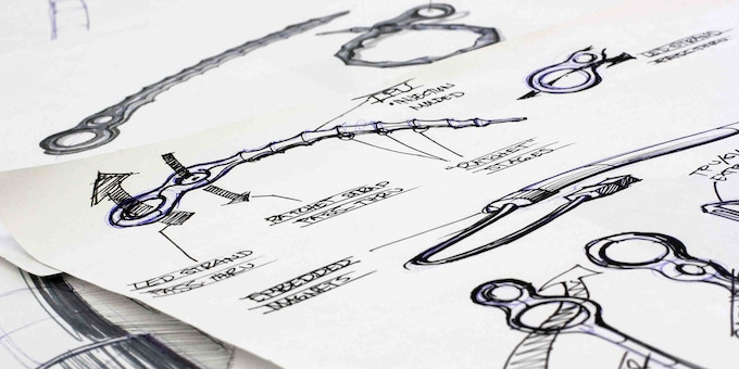 Early concept drawings on the luminoodle and noodle ties.